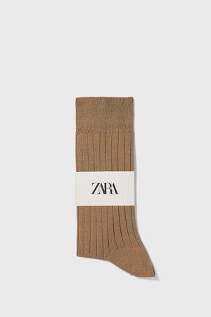 Zara Ribbstickade strumpor med mercerisering premium