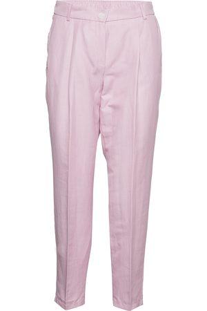 Gerry Weber Crop Leisure Trouser Byxa Med Raka Ben Rosa