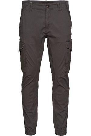 Jack & Jones Man Cargobyxor - Jjipaul Jjflake Akm 542 Asphalt Noos Trousers Cargo Pants Jack & J S