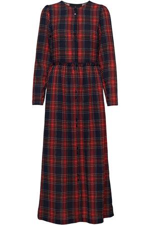 Designers Remix Saga Button Dress Maxiklänning Festklänning Röd