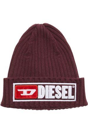 Diesel K-Coder-B Cap Accessories Headwear Beanies Röd