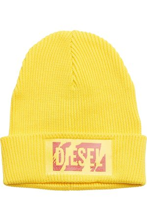 Diesel Man Mössor - K-Logy Cap Accessories Headwear Beanies Gul