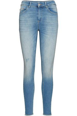Only Kvinna Skinny - Onlblush Life Mid Sk Ak Raw Rea1467 Noos Skinny Jeans