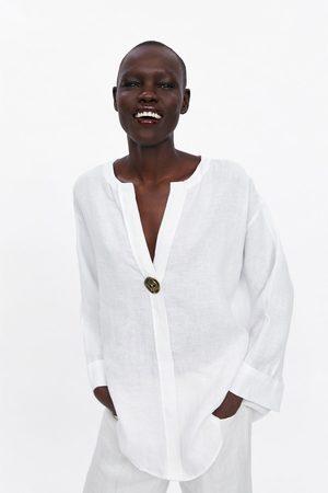 Zara Oversizeskjorta av linne
