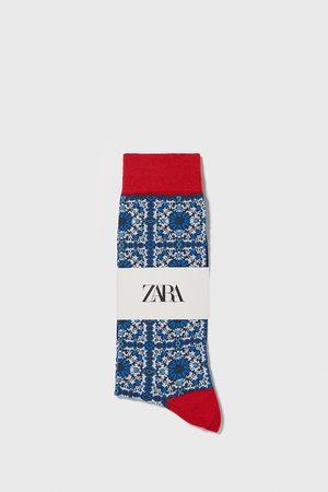 Zara Merceriserade strumpor i jacquardtyg med geometriskt mönster