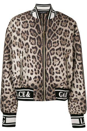 Dolce & Gabbana Leopardmönstrad bomberjacka
