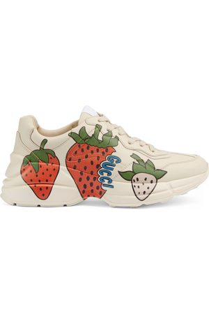 Gucci Women's Rhyton sneaker with Strawberry