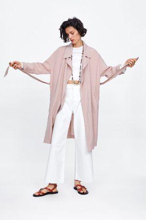 Zara Trenchcoat av linne med skärp