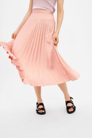plisserad kjol zara