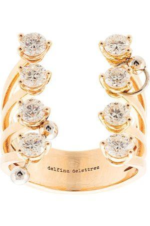 DELFINA DELETTREZ Diamantring i 18K gult guld