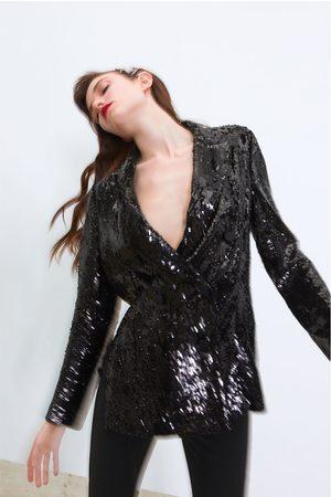 Zara Kavaj med omlott och paljetter