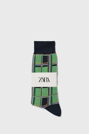 Zara Merceriserade strumpor med rutor