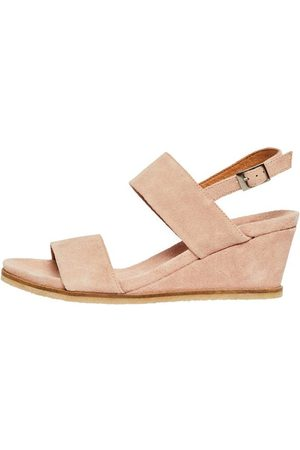 Bianco Leather Wedge Sandals