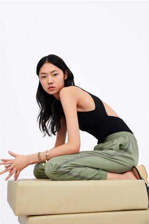 Zara Joggingbyxa med glittriga sidorevär
