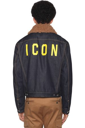 Dsquared2 Icon Print Patchwork Cotton Denim Jacket