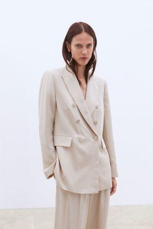 Zara Dubbelknäppt blazer med knapp