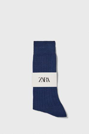Zara Kvinna Strumpor & Sockar - Ribbstickade strumpor med mercerisering premium