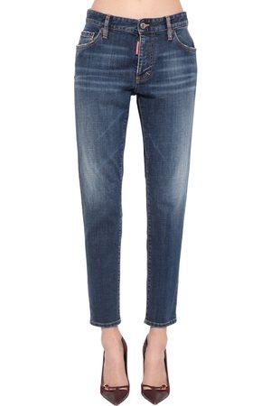 Dsquared2 Kvinna Jeans - Jennifer Cropped Cotton Denim Jeans