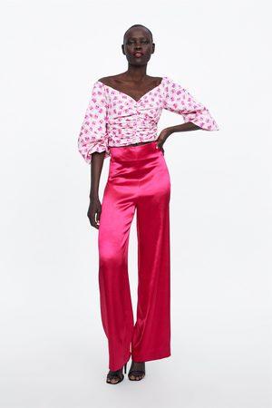 Zara Vid byxa i satin limited edition