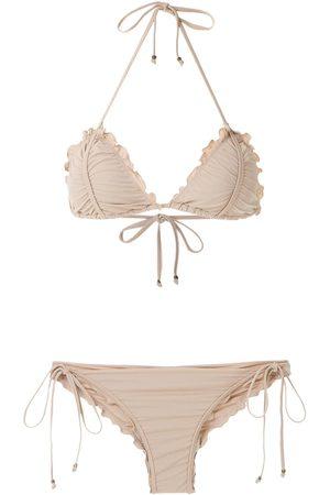 AMIR SLAMA Kvinna Bikinis - Bikini med vågig kant