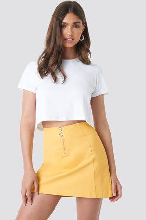 NA-KD Ring Puller A-Line Mini Skirt