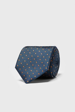 Zara Bred och prickig slips