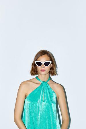 Zara Satängklänning med halterneck