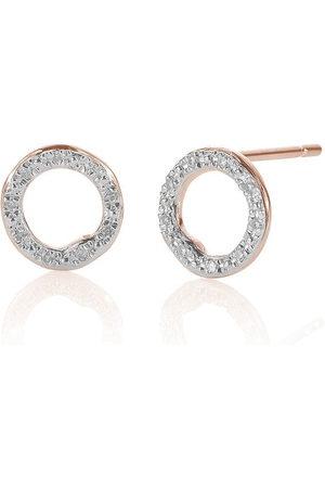 Monica Vinader RP Riva runda diamantörhängen
