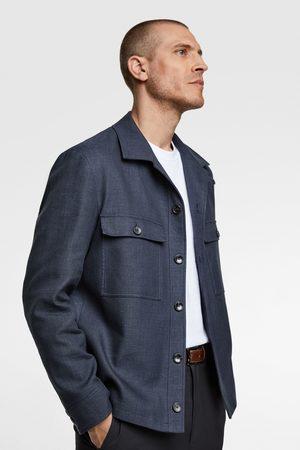 Zara Rustik skjortjacka med struktur