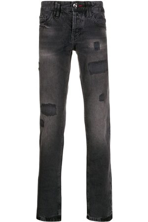 Philipp Plein Slitna jeans med raka ben