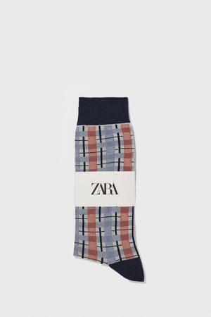 Zara Kvinna Strumpor & Sockar - Check jacquard socks