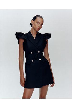 Zara Västklänning med volanger