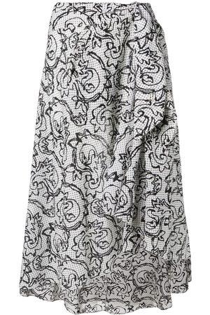 Fendi Blommig kjol från 1990-talet