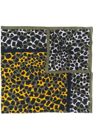 Yves Saint Laurent Djurmönstrad sjal från 1990-talet