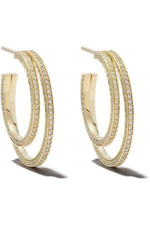Georg Jensen Halo diamantörhängen i 18K gult guld
