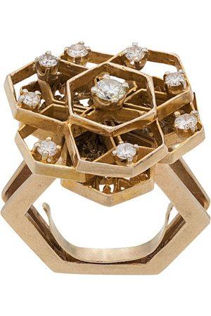 Katheleys Vintage Geometrisk ring från 1970-talet