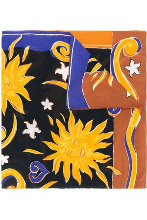 Yves Saint Laurent Painterly-effect printed scarf