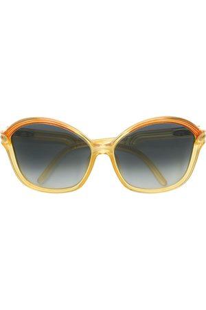 CHRISTIAN DIOR VINTAGE Tonade runda solglasögon i oversize-modell