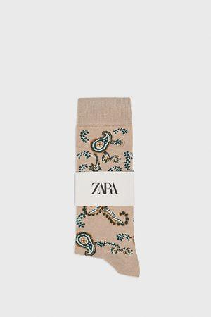 Zara Strumpor med merceriserat paisleymönster