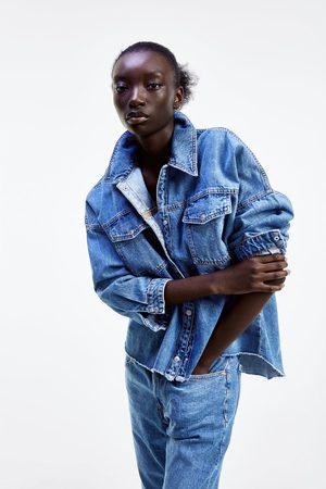 Zara Skjortjacka zw premium denim mic blue