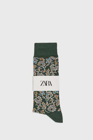 Zara Strumpor merceriserade blommor