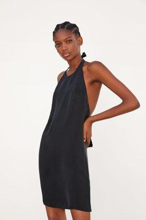 Zara Kvinna Halterneckklänningar - Vid klänning med halterneck