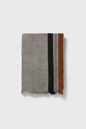 Zara Scarf med kombinerade ränder