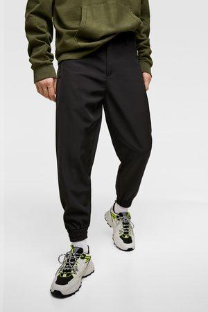 Zara Kvinna Joggingbyxor - Textured jogging trousers