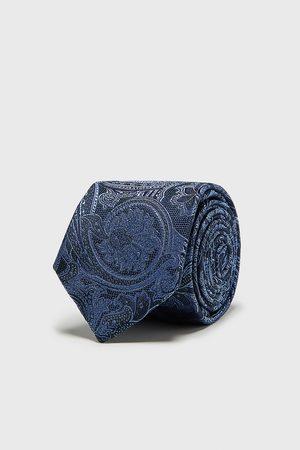 Zara Kvinna Slipsar - Bred slips i jacquard med paisley