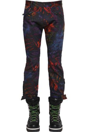 Dsquared2 Man Byxor - Printed Tie Dye Cotton Biker Pants
