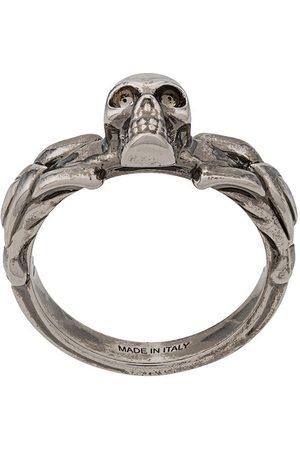 Alexander McQueen Man Ringar - Ring med dödskalle