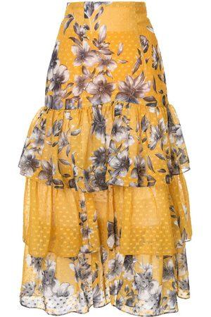 Bambah Blommig kjol med volanger