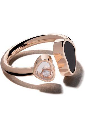 Chopard Kvinna Ringar - Ring i 18 karat roséguld med Happy Hearts i onyx och diamant