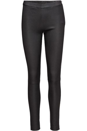DEPECHE Kvinna Leggings - Pants Leather Leggings/Byxor